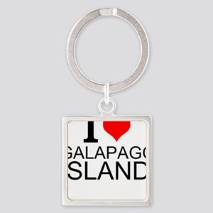 I Love Galapagos Islands Keychains